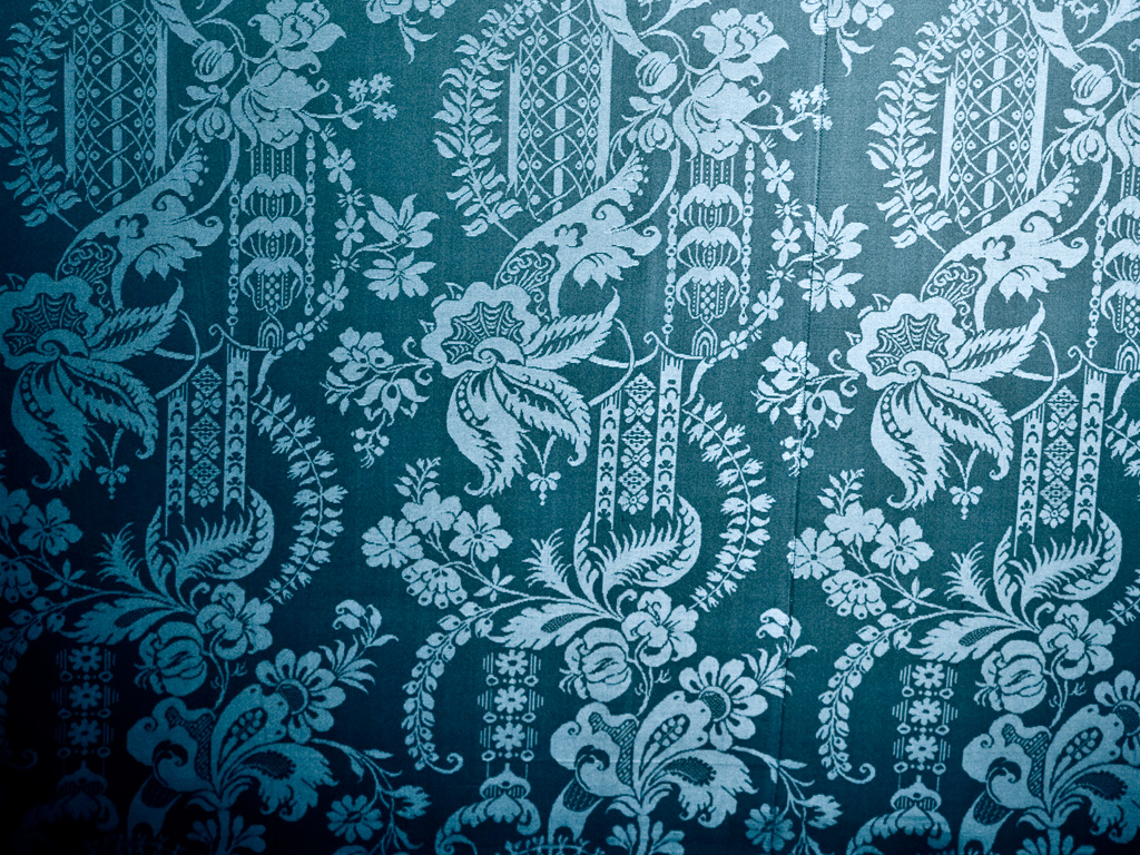 Royalty free Photo   Vintage Wallpaper Texture Blue Damask Fabric 1024x768
