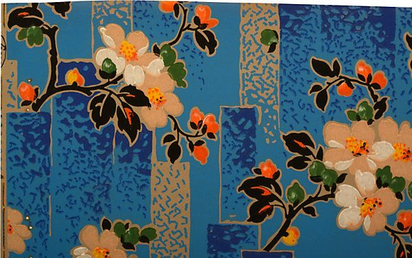 One Kings Lane   The Sophisticated Wall   French Art Deco Cobalt 600x376