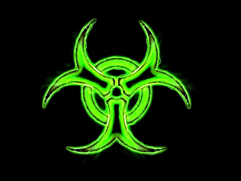 Green Biohazard Wallpaper Bio hazard   green by ethenyl 1024x768