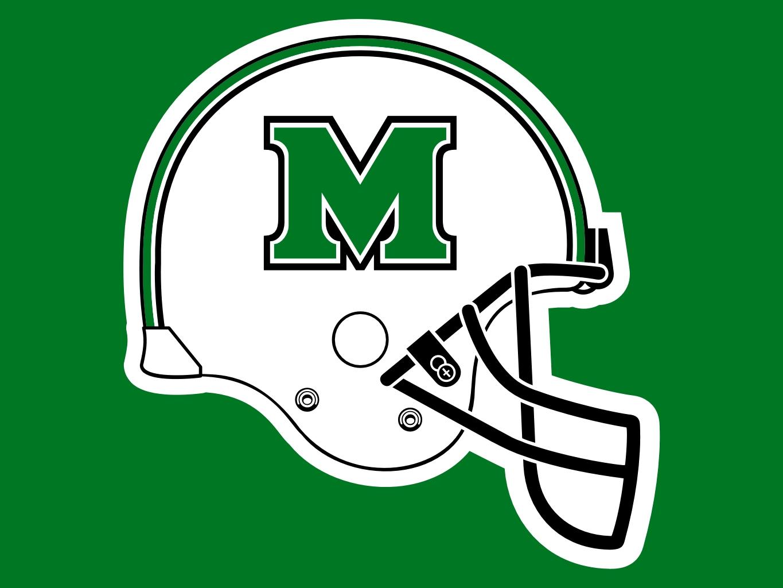 Marshall University Logo Applique Garden Flag Pictures 1365x1024