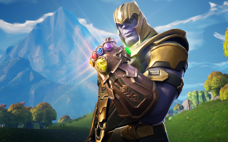 2880x1800 Thanos In Fortnite Battle Royale Macbook Pro Retina HD 2880x1800