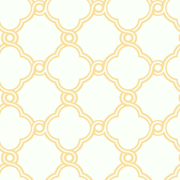 Yellow with White Open Trellis Wallpaper   Wall Sticker Outlet 600x600