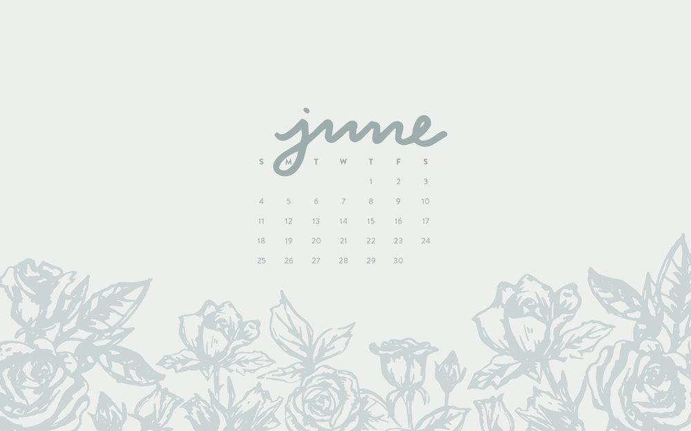 Wallpaper June 2017 Calendar Pattern Britt Fabello 1000x625