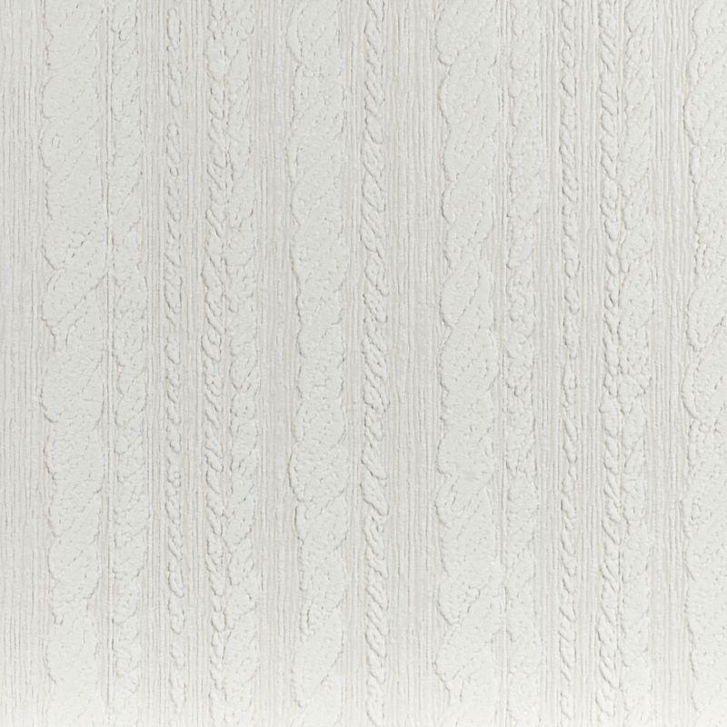 Superfresco Cable Stripe White Paintable Wallpaper Paintable white 800x800