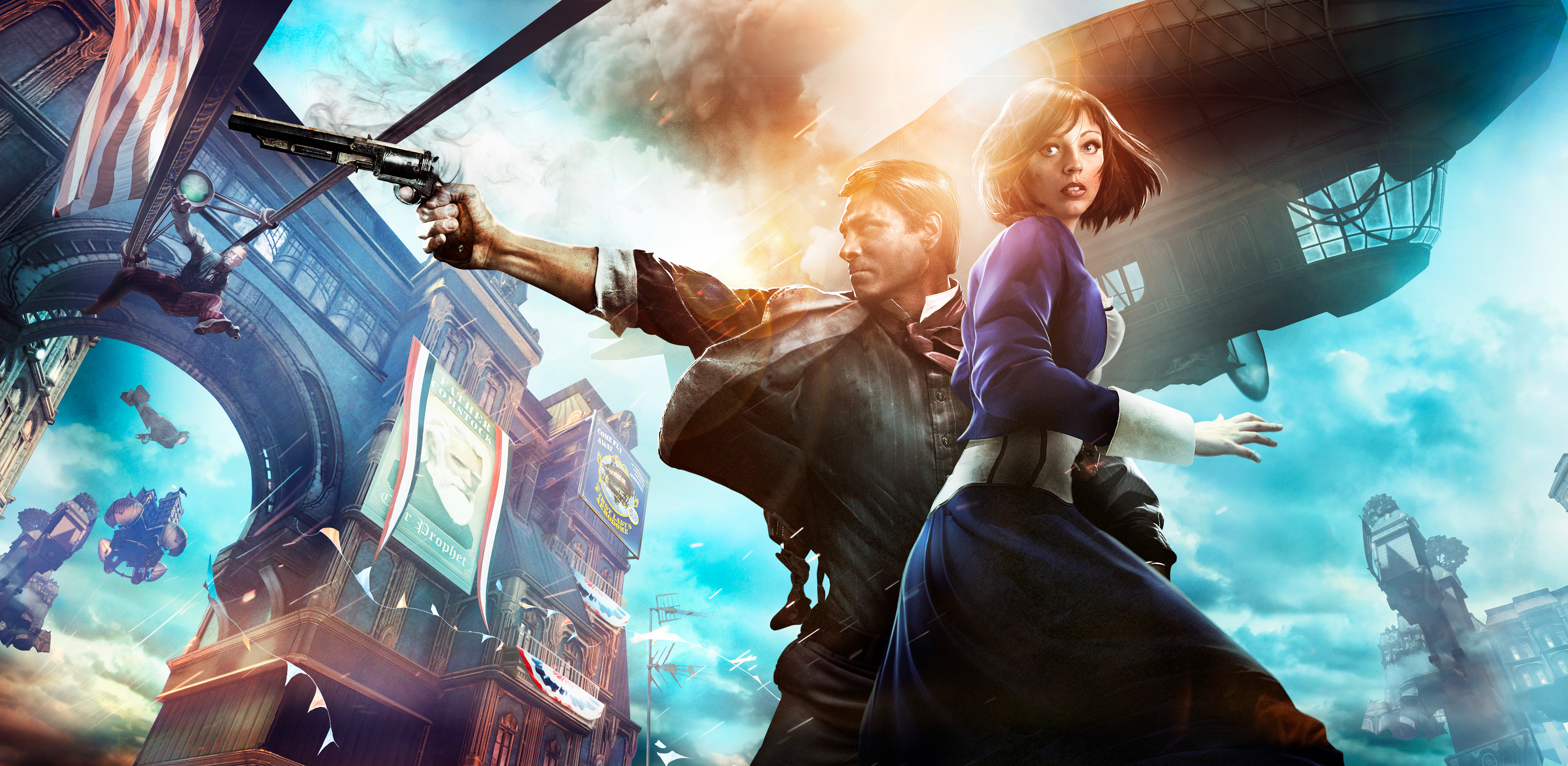 188 Bioshock Infinite HD Wallpapers Background Images 7184x3512