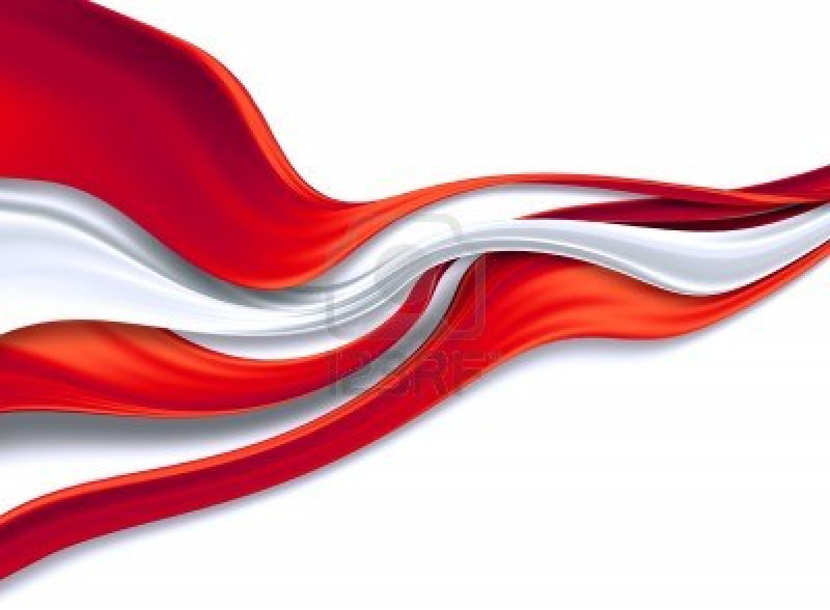 Cool white and red background - 10615311 Red And White Silk Ribbons On A
