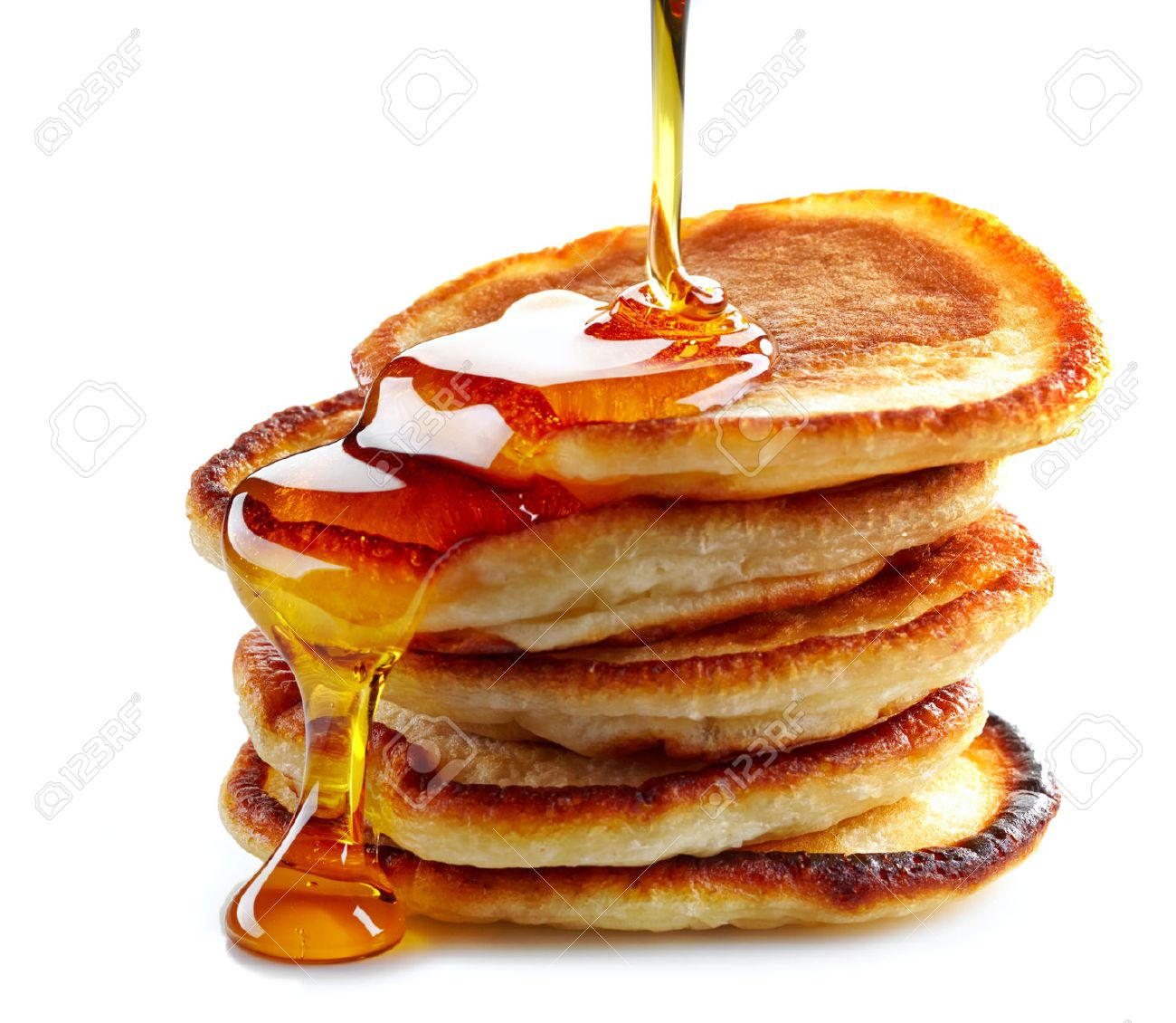Stack Of Pancakes On White Background Stock Photo Picture And 1300x1130