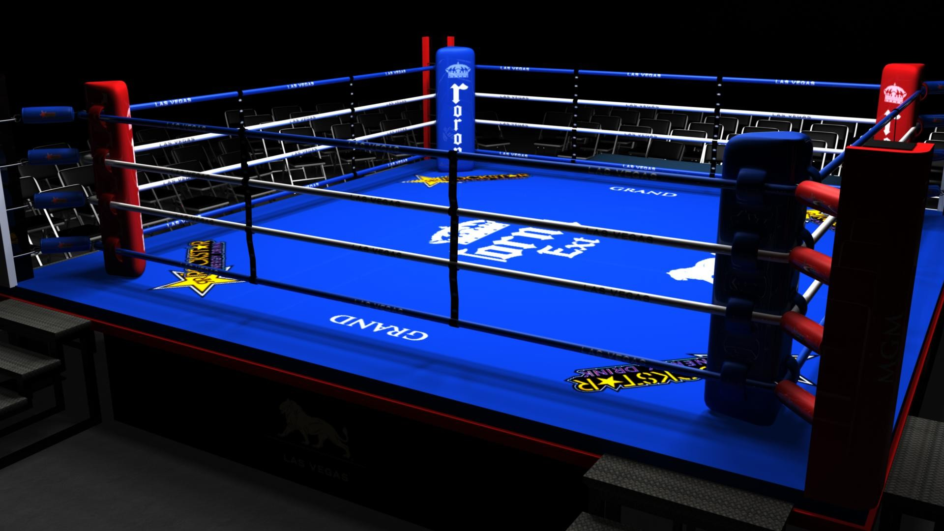 boxing ring cartoon images