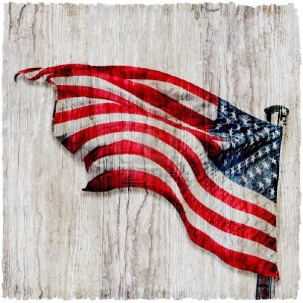 American Flag Background Vertical 4th of July 600x600