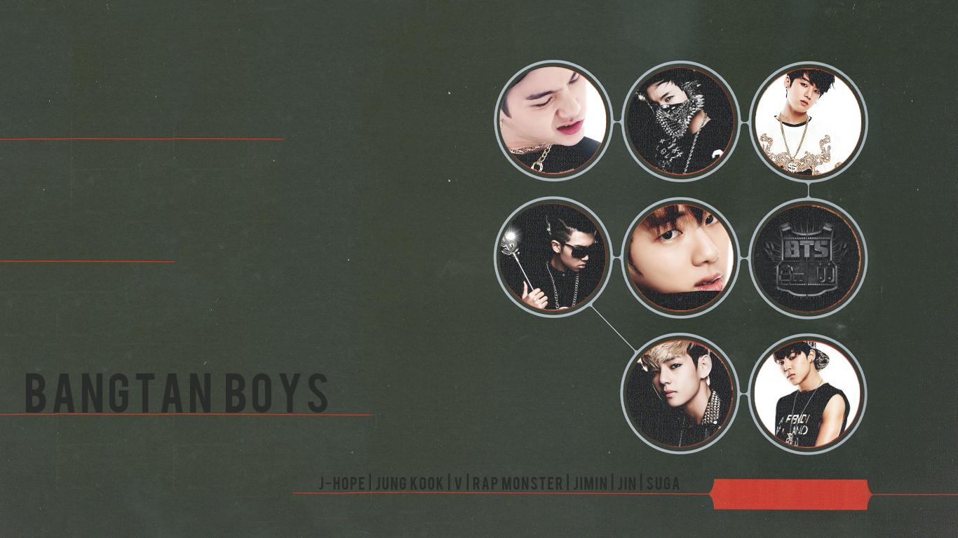 Bangtan Boys BTS Wallpapers HD Desktop WIde 1366x768