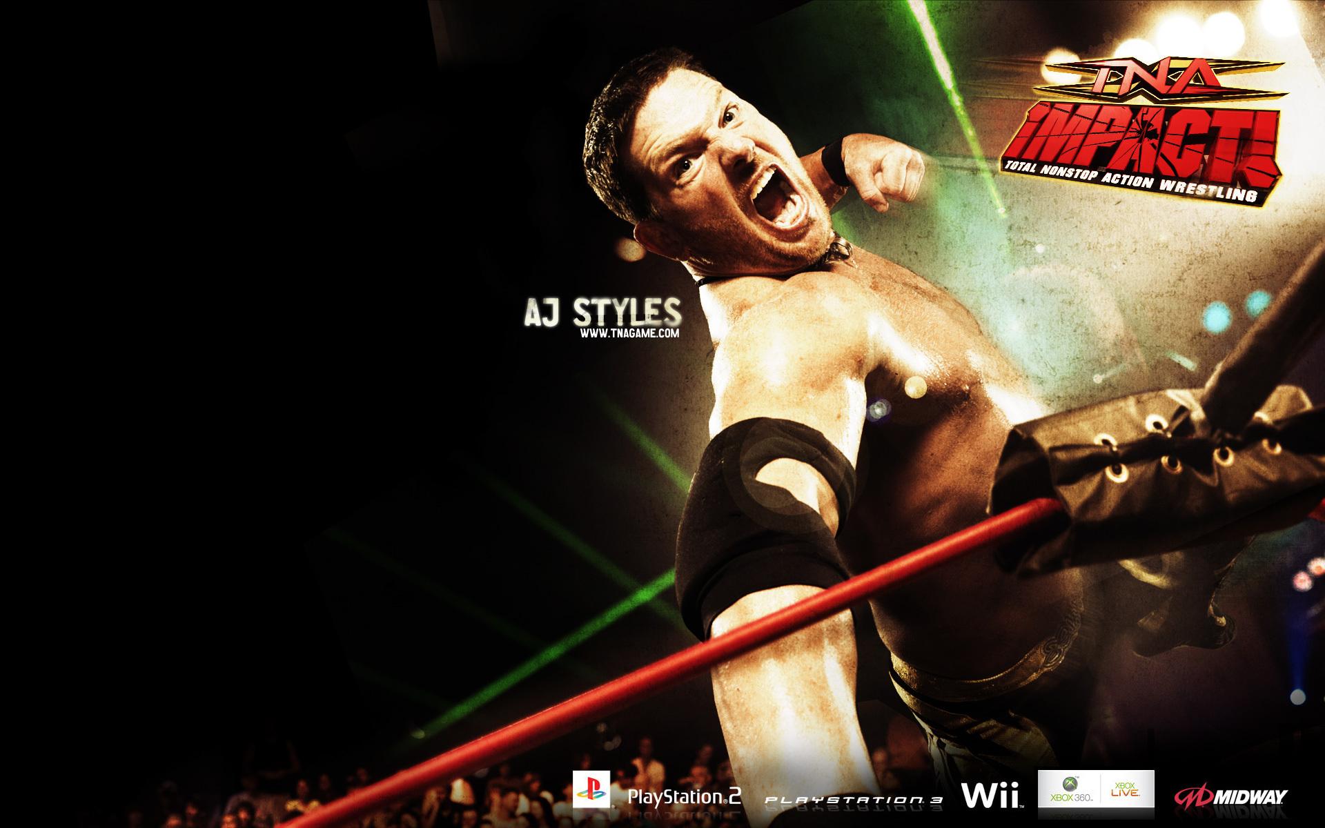 aj styles   TNA Wrestling Wallpaper 11396957 1920x1200