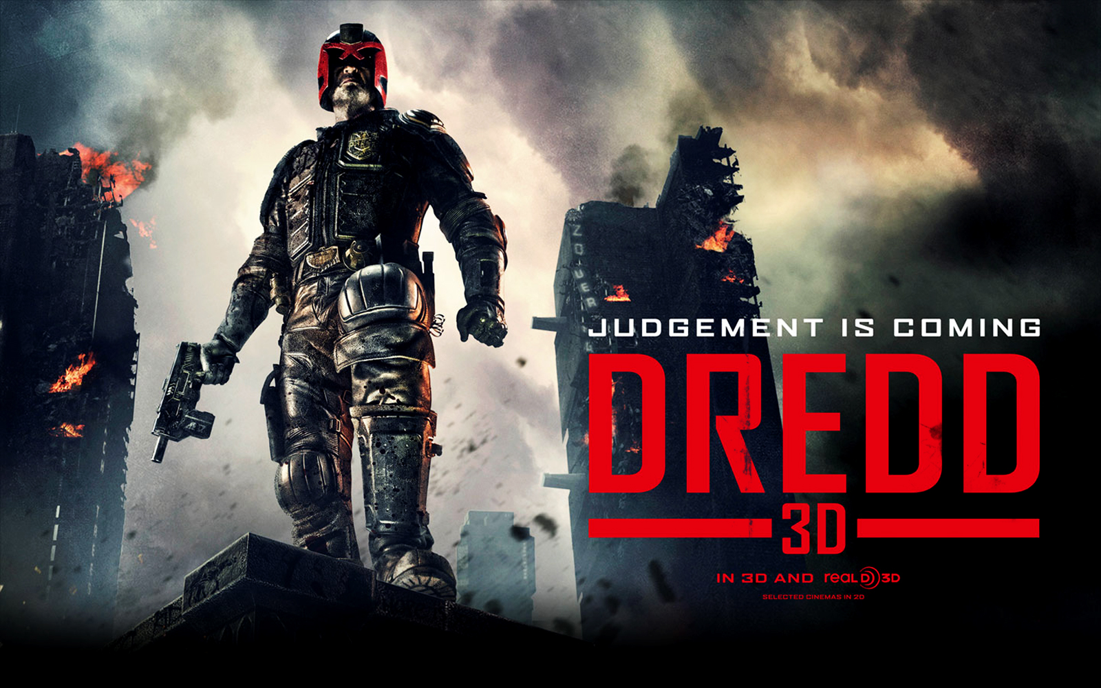 Dredd 3D Movie Poster HD WallpapersImage to Wallpaper 1600x1000