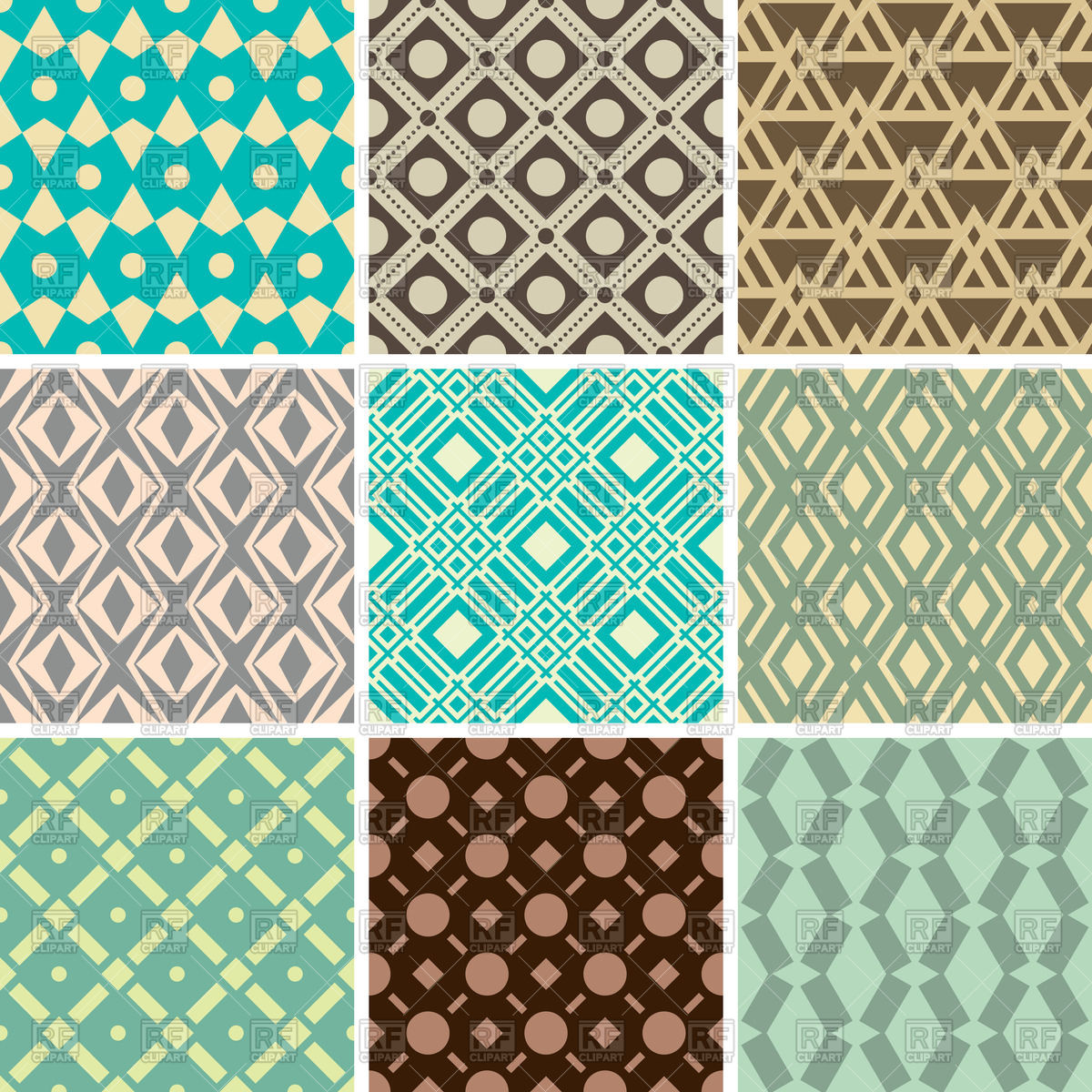 Abstract seamless geometric patterns for wallpaper 47988 Backgrounds 1200x1200