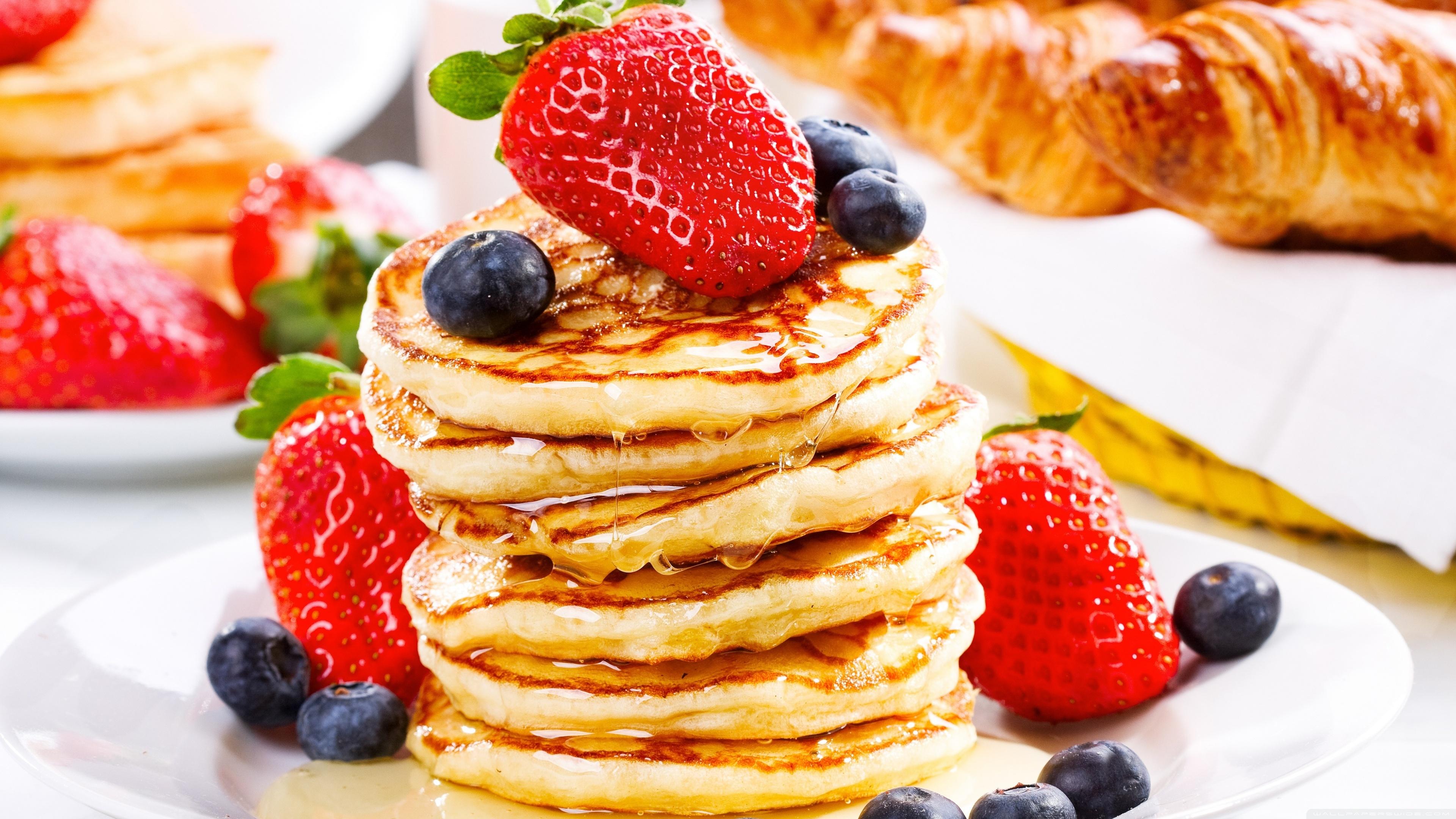 Pancakes Syrup 4K HD Desktop Wallpaper for 4K Ultra HD TV 3840x2160