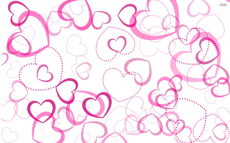 Pink Heart Background Wallpaper - WallpaperSafari