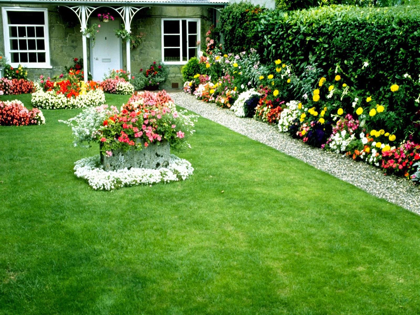 country garden wallpaper