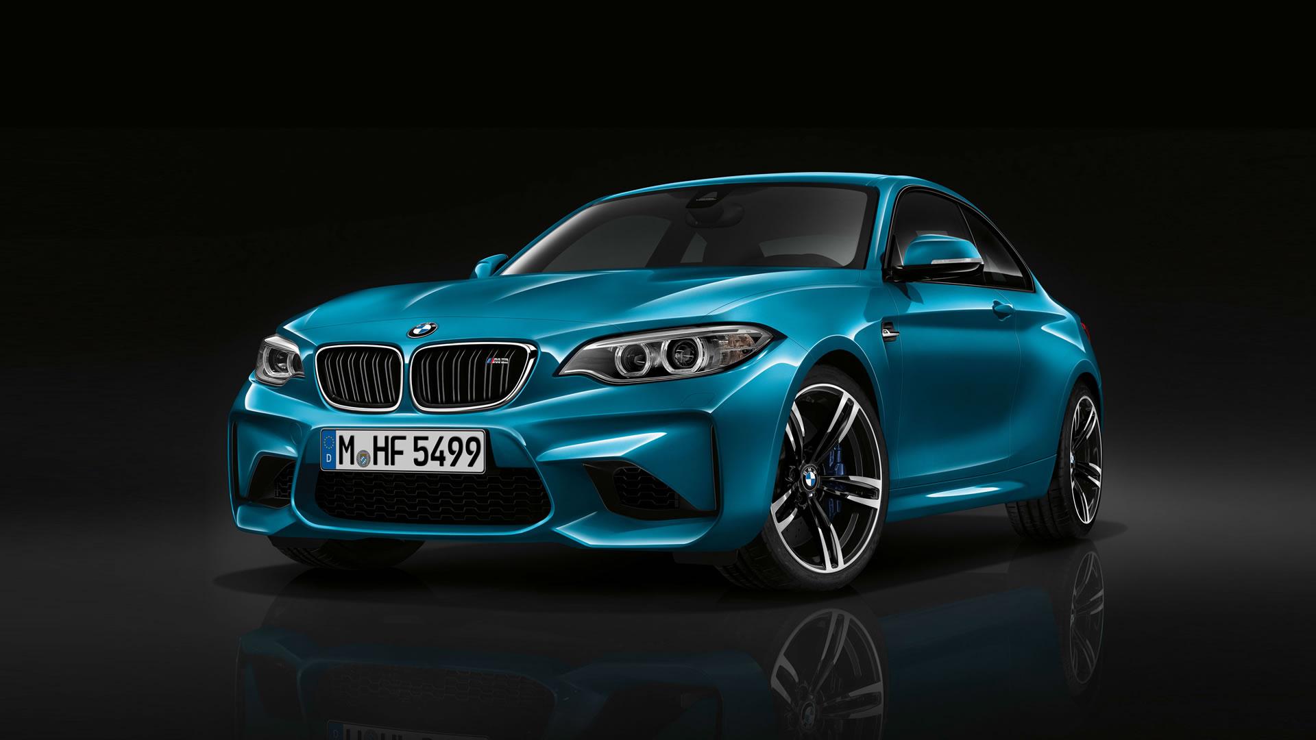 2016 BMW M2 Coupe 1920 x 1080 wallpaper Long Beach Blue paint front 1920x1080
