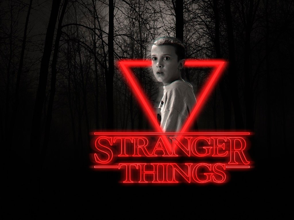Stranger Things Eleven Neon Poster Full HD Wallpaper 1024x768