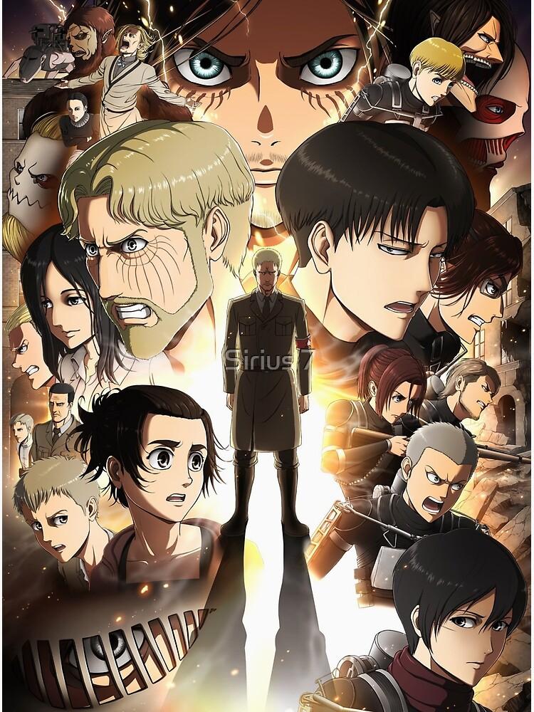 Attack On Titan Shingeki no Kyojin Season 4 Poster Anime 750x1000