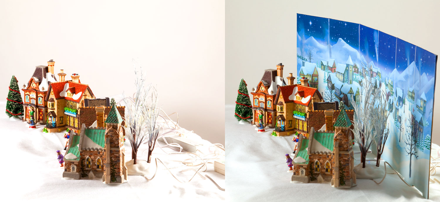 Village Backgrounds   Bring Your Christmas Village Halloween Village 1500x690