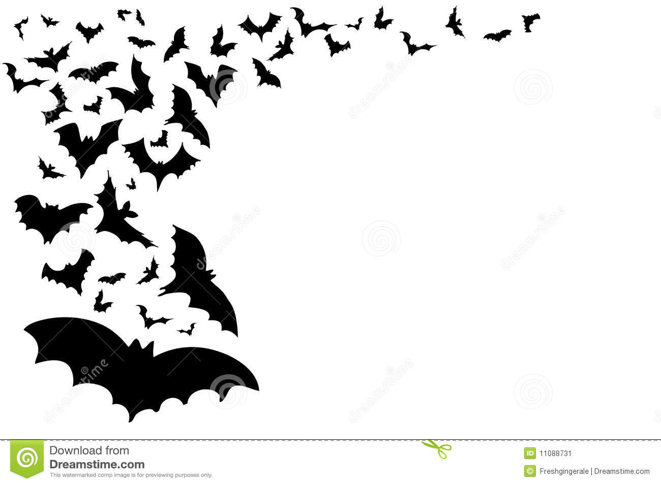 Halloween Bat Border Halloween background with bats 1300x955