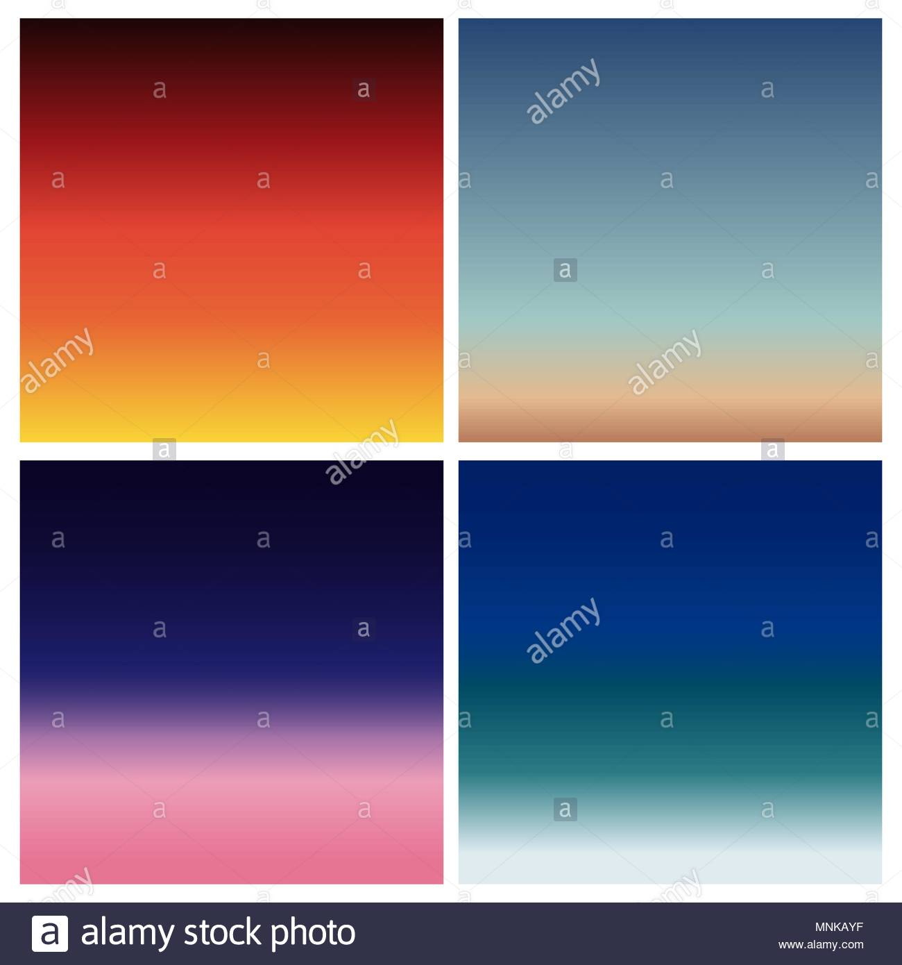 Abstract vector sunset blurred background set Square blurred 1300x1390
