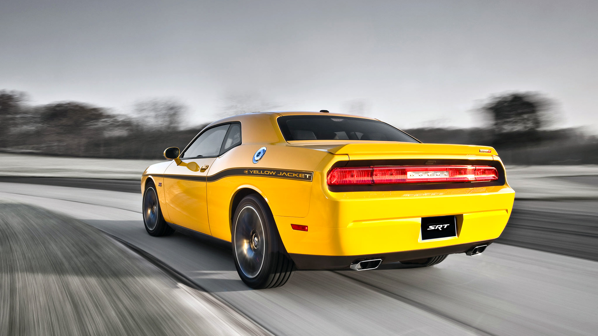 Dodge Challenger SRT8 392 Yellow Jacket Wallpaper   HD 1920x1080