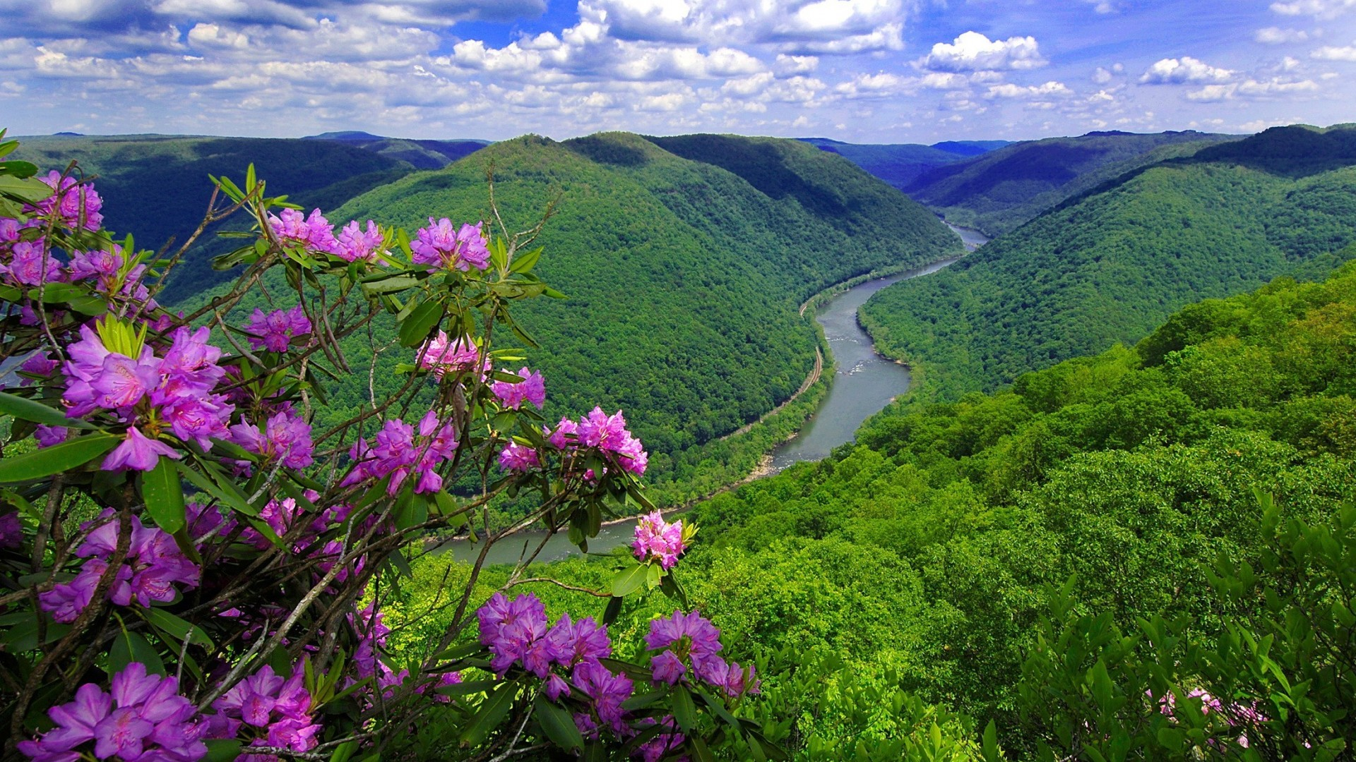 Free Download Wallpaper Picturesque Kanawha River In The