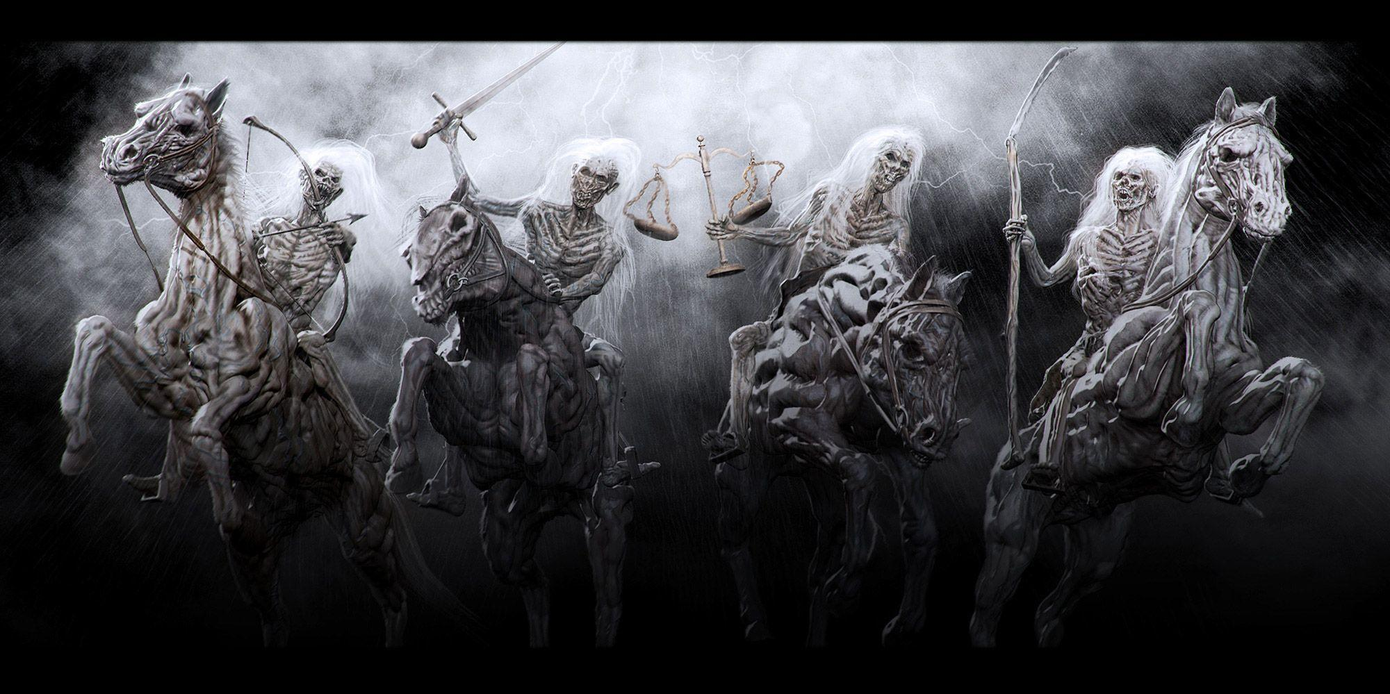 The Four Horsemen Of The Apocalypse Wallpapers   Wallpaper 2000x999