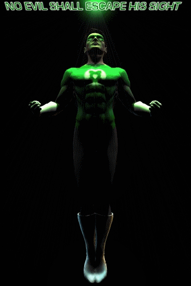Download for iPhone cartoons wallpaper Green Lantern I4 640x960