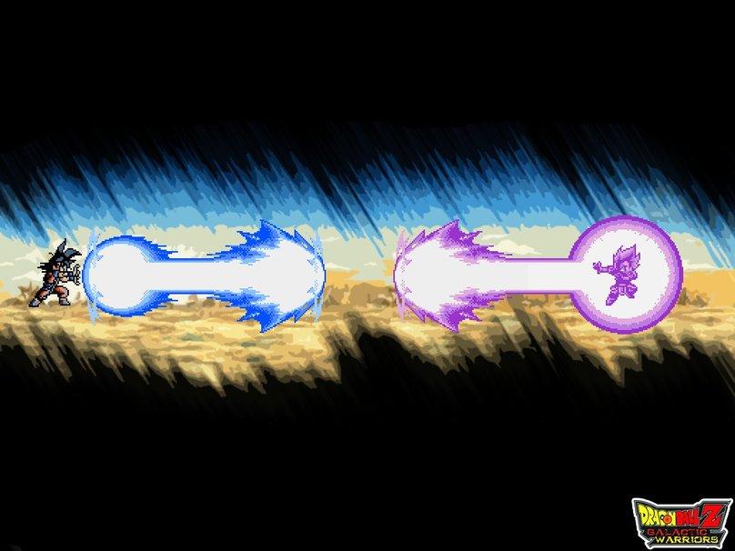 Gokus Kamehameha Vs Vegetas Galick Gun wallpaper   ForWallpaper 808x606