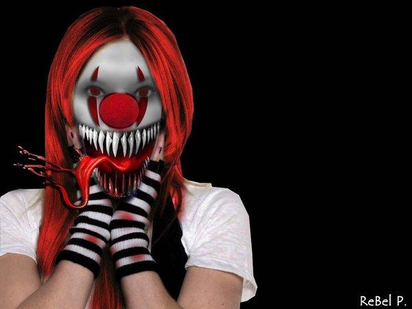 Zombie Horde Art Free Scary Clowns Desk...