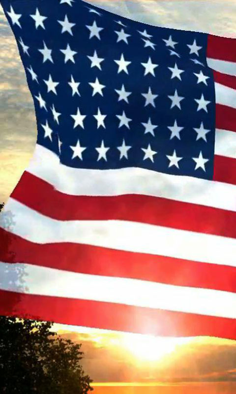 Download USA Flag live wallpaper for your Android phone 480x800