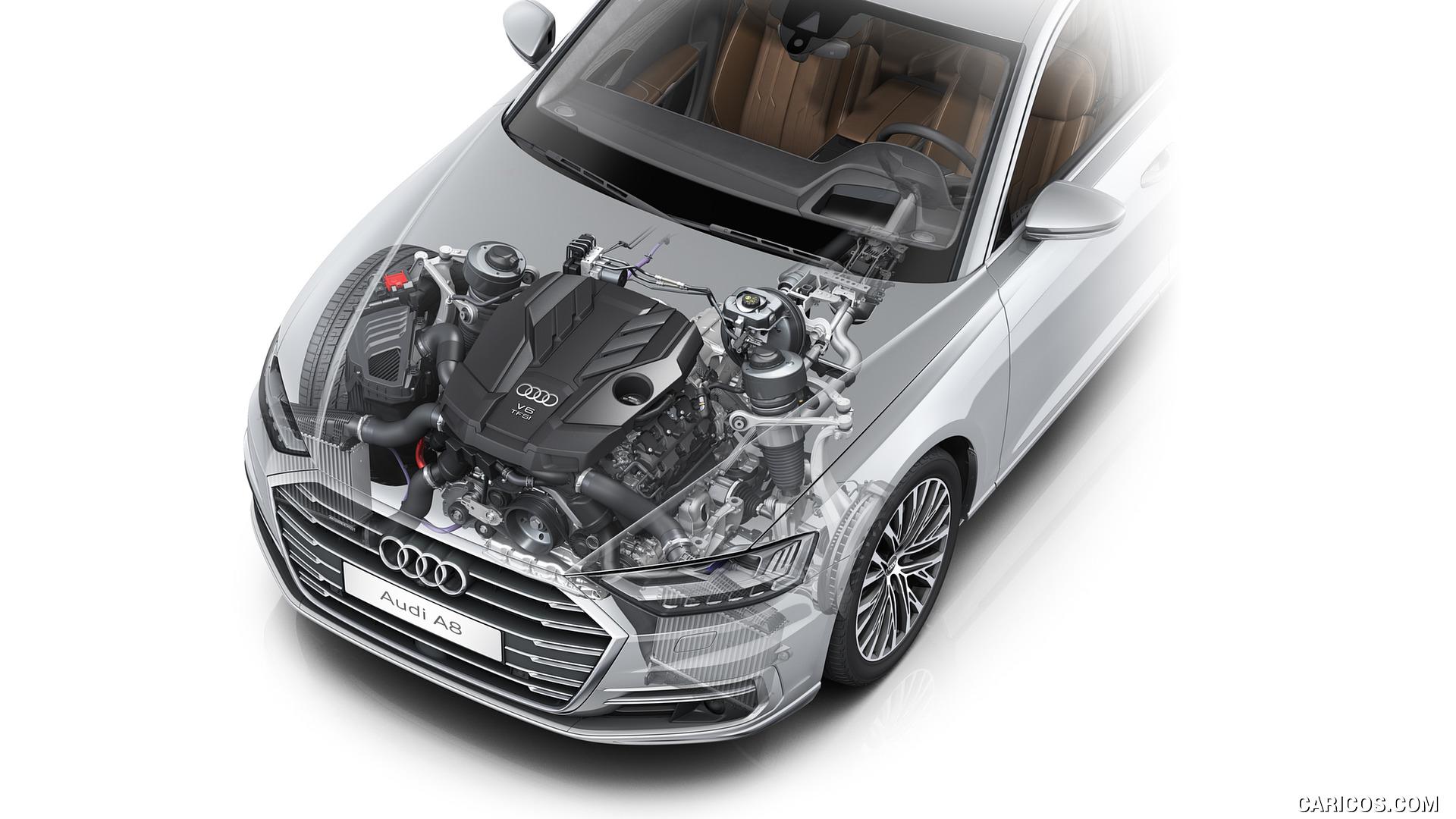 2018 Audi A8   V6 30 TFSI Engine HD Wallpaper 57 1920x1080