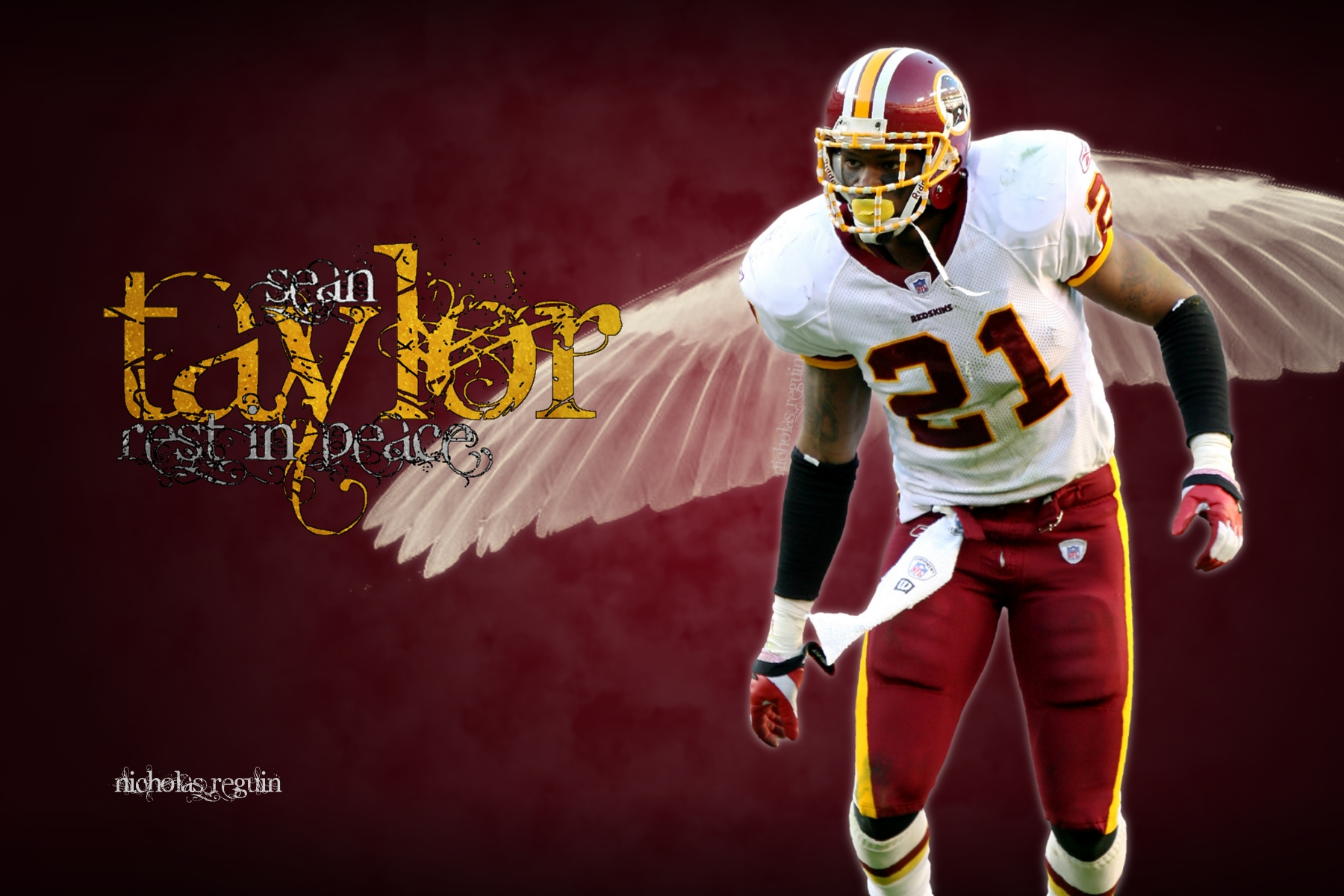 Rest In Peace Sean Taylor Washington Redskins by FBGNEP 1800x1200
