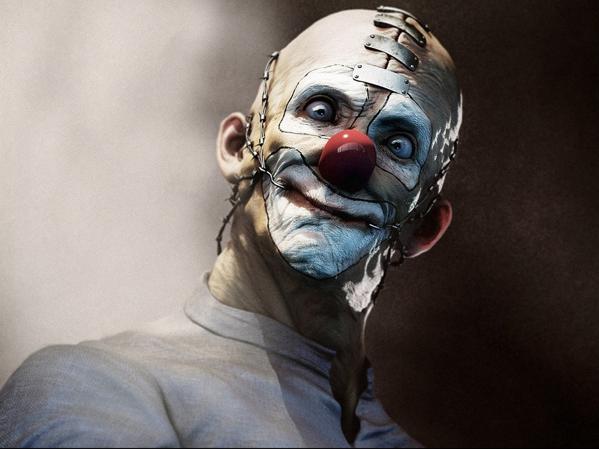 Dark horror evil clown art artwork f wallpaper 1920x1440 693581 1920x1440