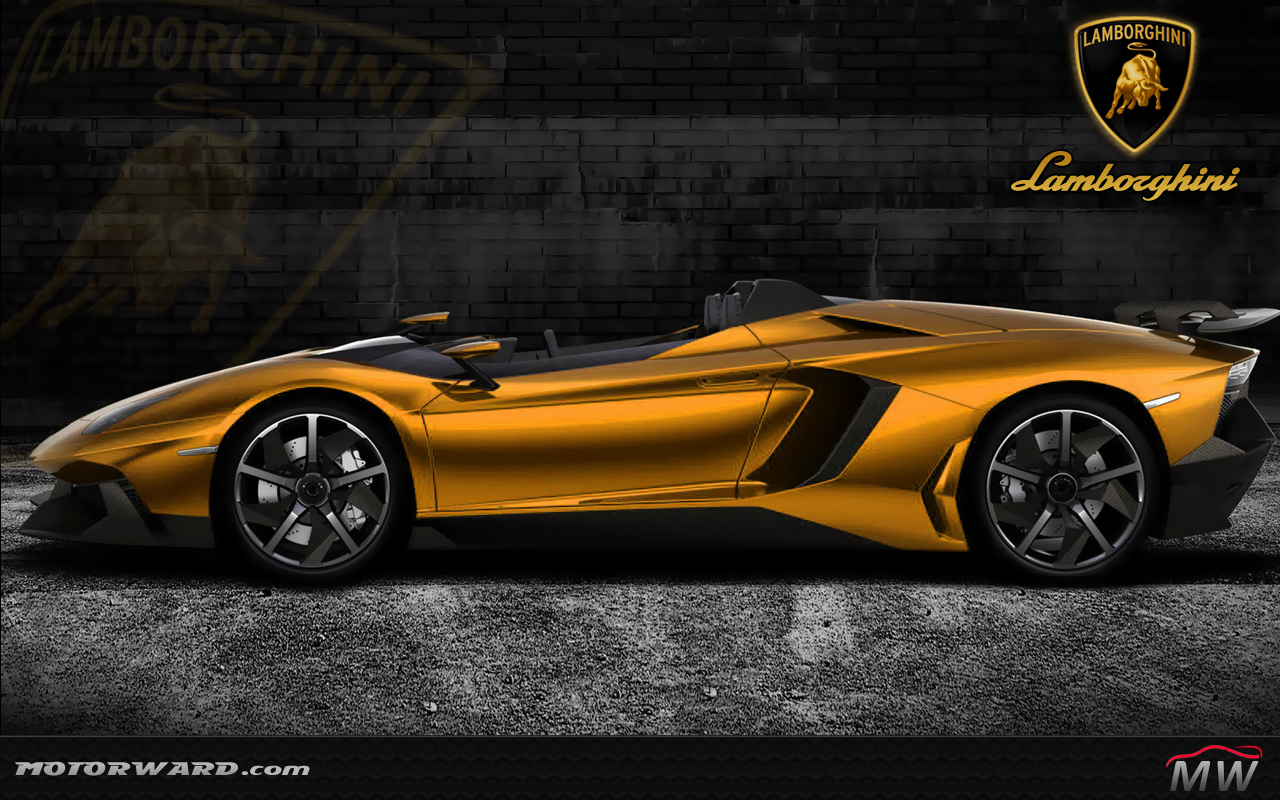 Lamborghini Aventador J Yellow Gold Wallpaper Motorward At Lamborghini .
