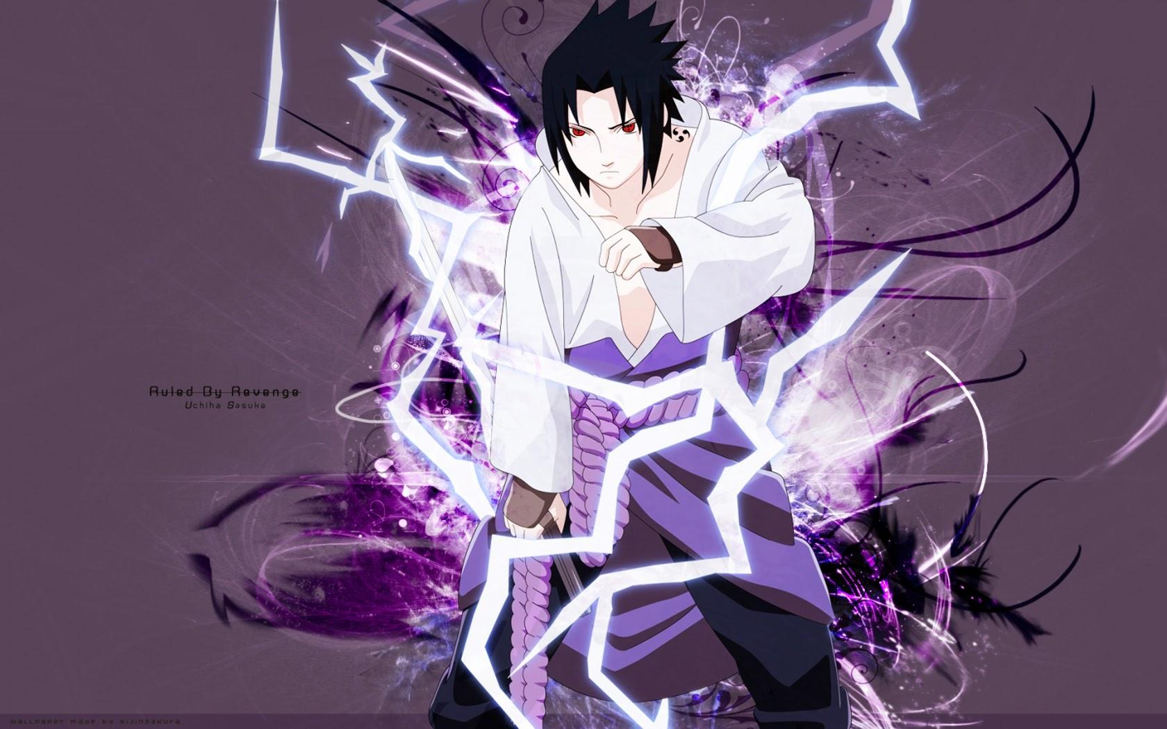 sasuke uchiha sharingan lightning edge hd wallpaper anime 1680x1050 1680x1050