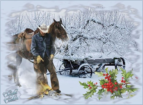 Cowboy christmas background