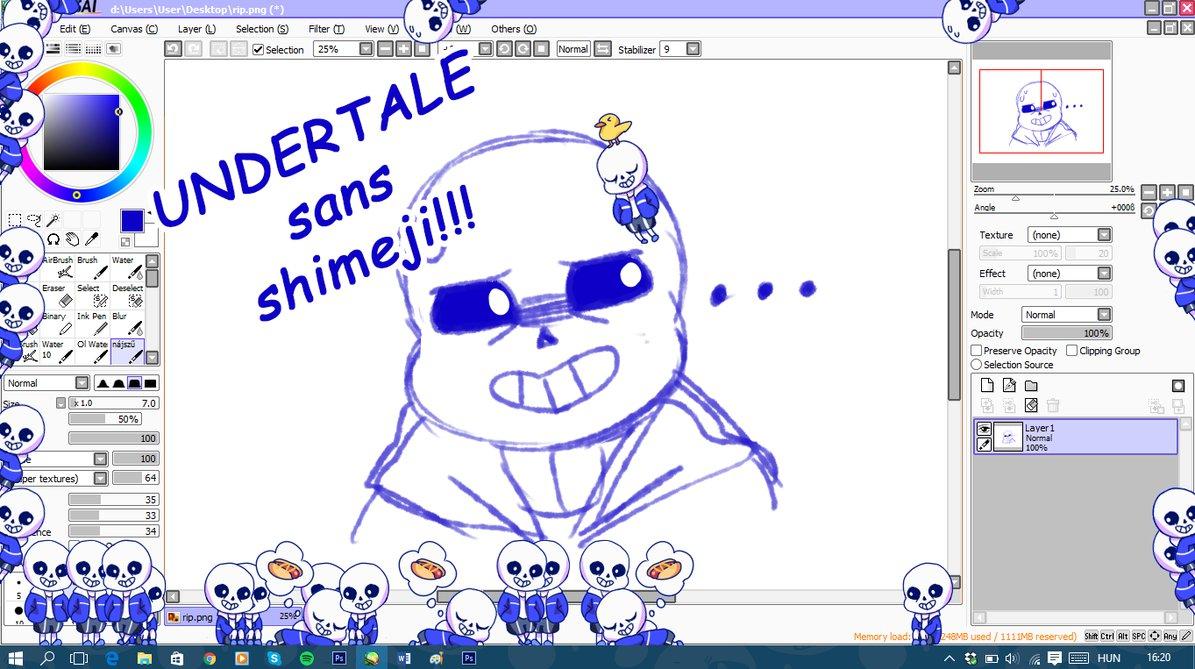 Undertale   Sans shimeji by Mirachaan 1195x669