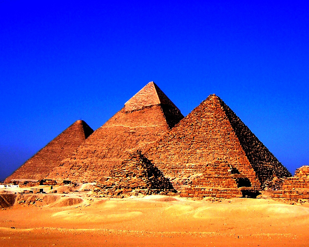 Egyptian Pyramids Wallpaper HD Backgrounds Images Pictures 1280x1024