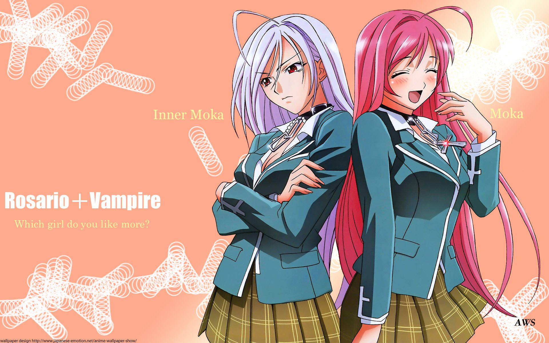 Rosario Vampire Wallpapers and Background Images   stmednet 1920x1200