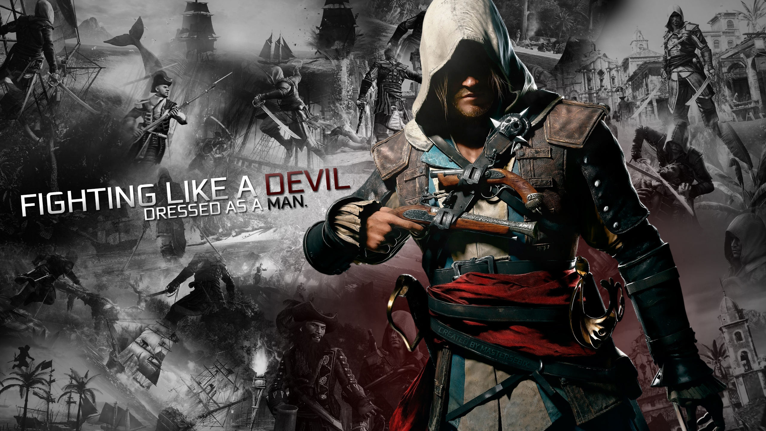 Assassins Creed 4 Multiplayer Male wallpaper 2560x1440