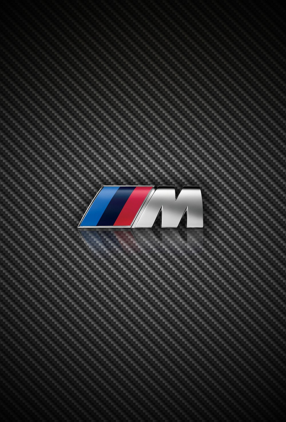Carbon Fiber BMW and M Power iPhone wallpapers for iOS 7 parallax 1000x1477