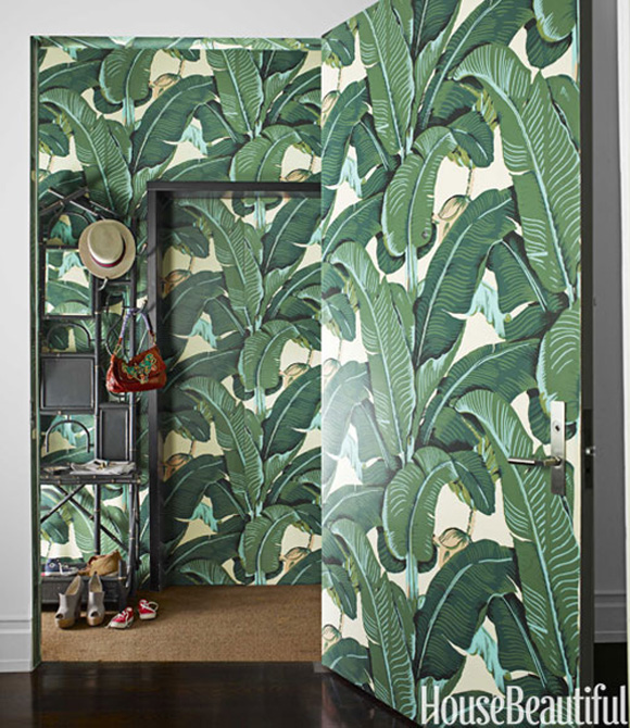 10 Of My Favorite Interiors with Palm Leaf Wallpaper Live The Life 580x670