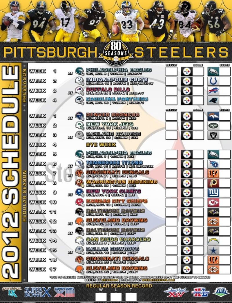 Steelers 2015 schedule wallpaper wallpapersafari - Steelers schedule 2014 printable ...