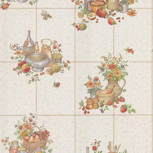 Pajer Mauve Vintage Fruit Tile Wallpaper Other Home Walmartcom 500x500