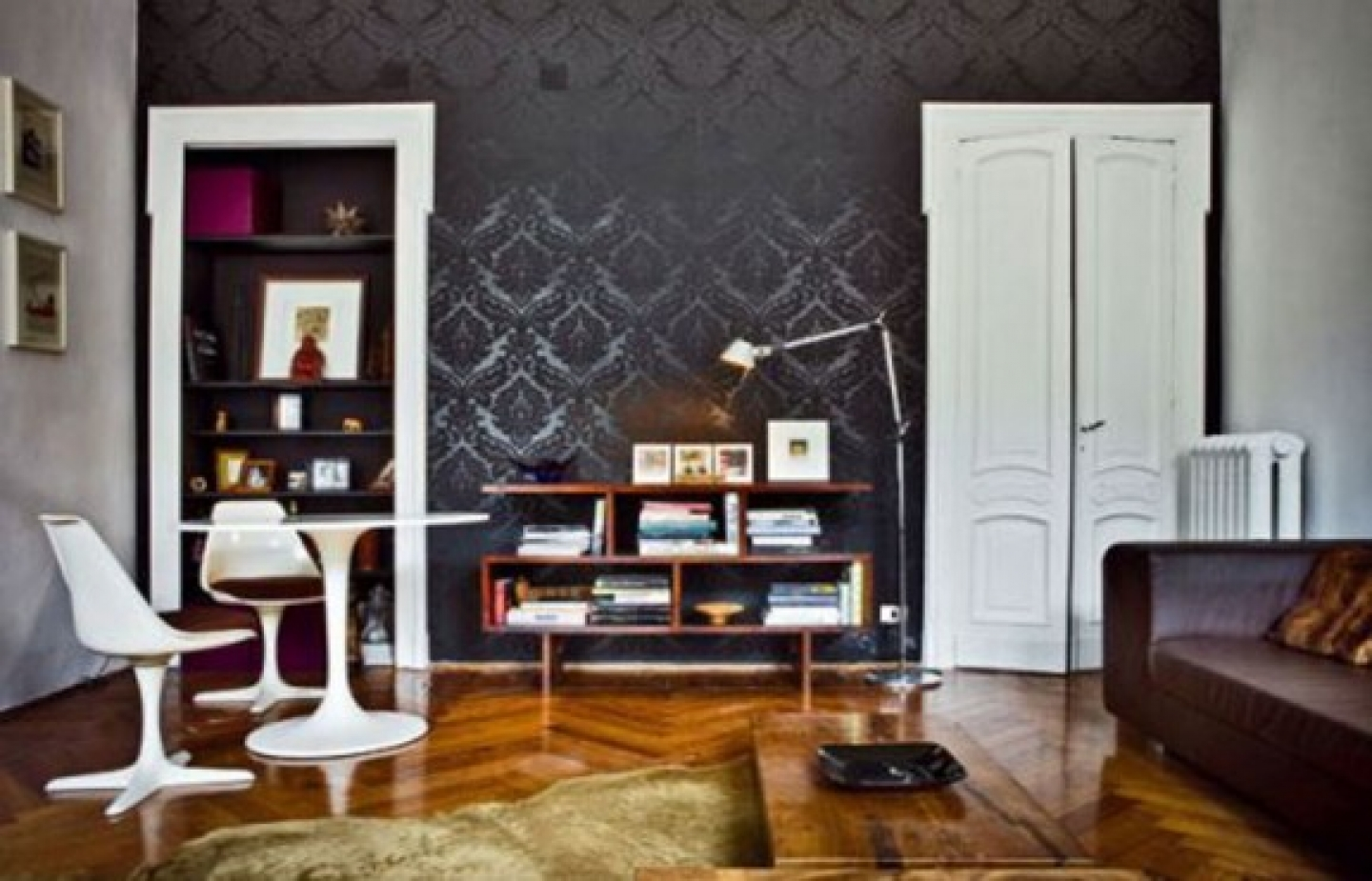 apartment apartments black black and grey living room with wallpaper 1440x925