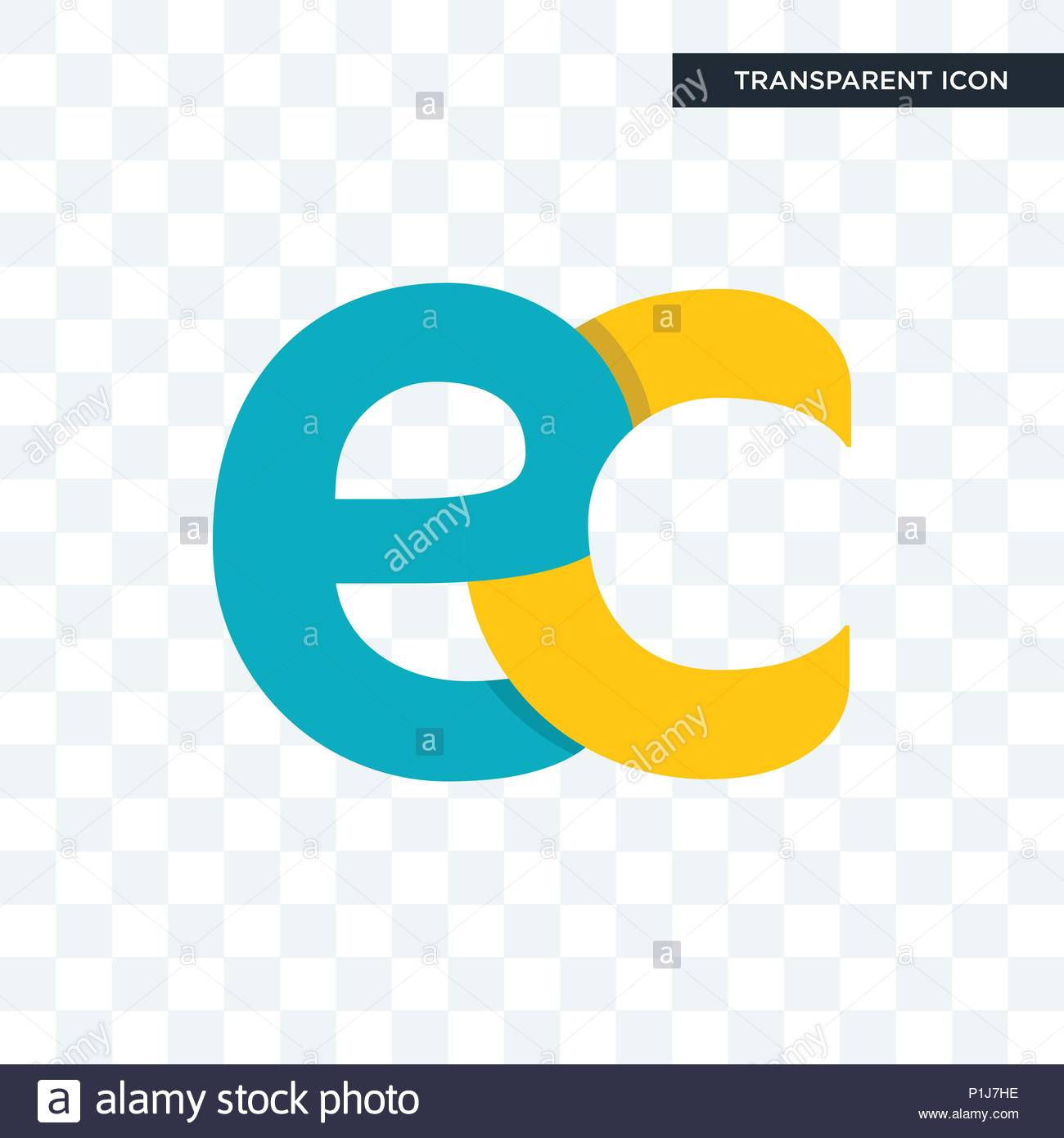 ec vector icon isolated on transparent background ec logo concept 1300x1390