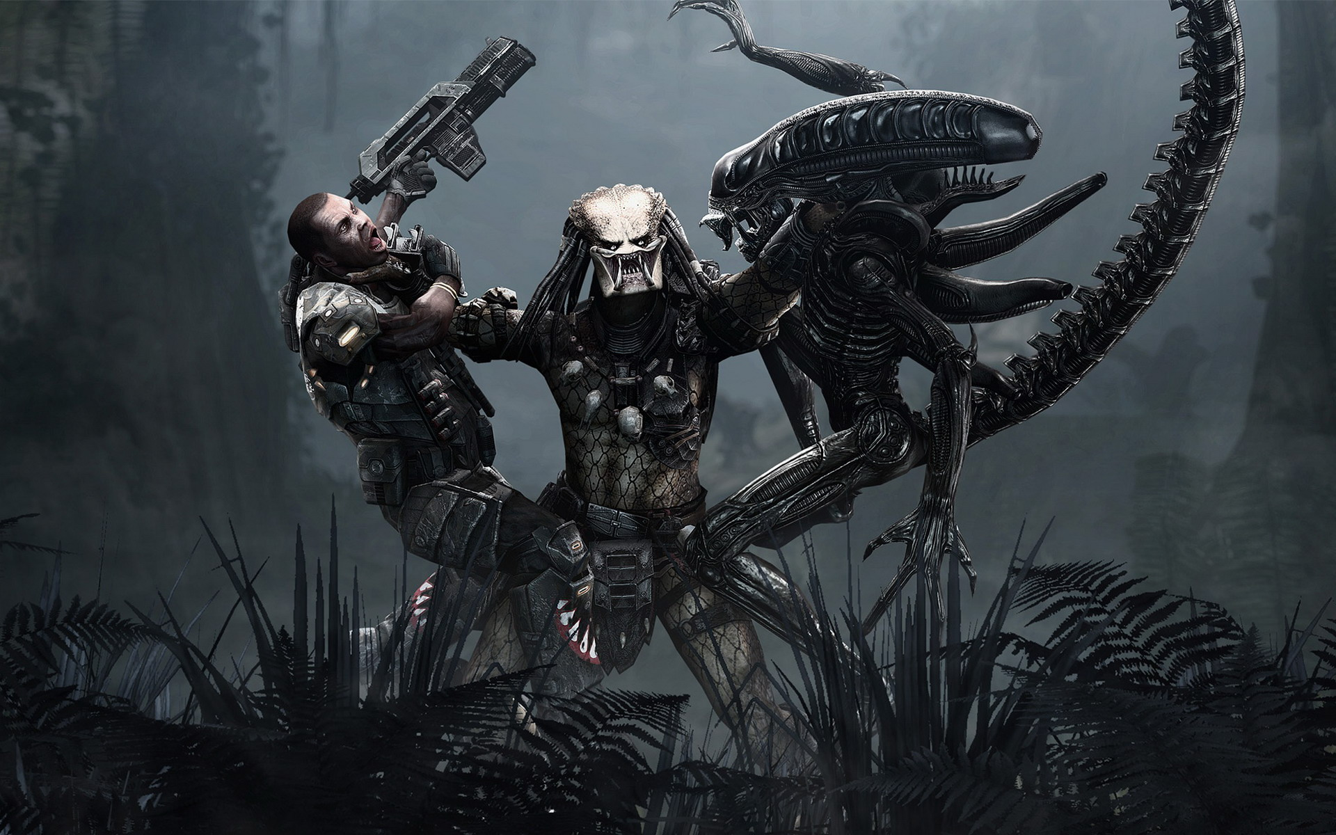 Aliens Vs Predator Game Wallpapers HD Wallpapers 1920x1200